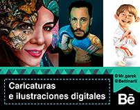 Digital cartoons and illustrations