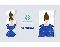 """""""FIT OR EAT"""" poster"""