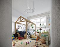 """"""" Scandinavian Kid's Bedroom """""""