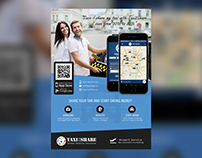 Taxi2Share Mobile App Flyer
