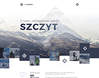 Mt. Climbers - Website design concept