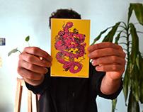Quetzalcoatl obra en serigrafia