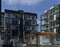 Compact Affordable Housing exterior shot
