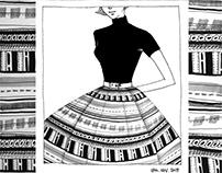 Pattern Illustration - 1950's Fashion silhouette