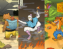 Video Game Ukiyo-e Print Series