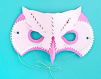 3D Paper Owl Masks
