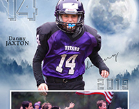 Football sports memory mate photography template