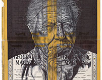 recent bic biro ballpoint pen drawings