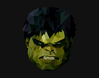 Marvel characters in low poly