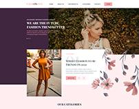 Fashionista Website UI