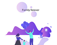 Illustration - Family forever