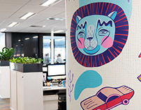 The Brand Agency Office Murals