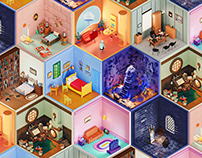 3D Rooms Project | Volume 1