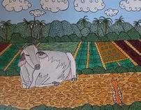 Cow and cat