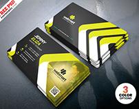 Clean Modern Business Card Design PSD