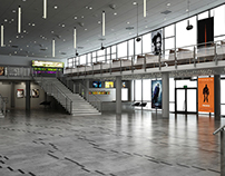 Cinema hall interior visualizations