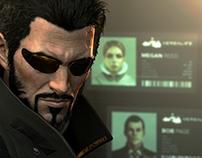 Deus Ex Mankind Divided Menus, HUD, Mograph
