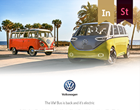 Volkswagen (The VW Bus) - landing page design