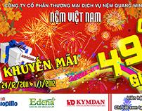 Nệm Việt Nam - Bảng hiệu khuyến mãi Tết 2012