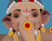 Lord Ganesha Illustration Work