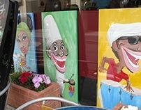 "Display paint ""Cafe La Vida """