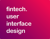 fintech. user interface design