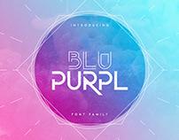 BluPurpl Font family. Free font