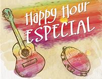 Cartaz de divulgação Happy hour Olga