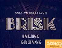 Brisk Inline Grunge FREE Font