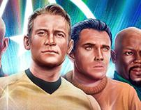 Star Trek Captains magazine Illustration