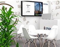 Kawiarenka PHN - wizualizacja stoiska
