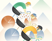 Retro Cycling Poster
