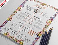 Beautiful Resume CV PSD Template