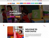 Kids Castle Preschool website index page