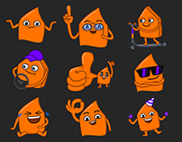 animated Telegram stickers for Citymobil