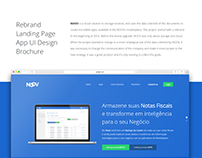 NOOV: Rebrand, landing page, App UI Design