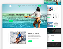 Surfing Web site Homepage Design