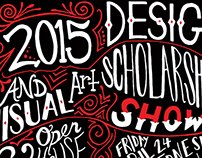 Design & Visual Arts Scholarship Show Poster