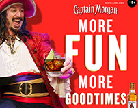 Captain Morgan Gold Social Art May 2018