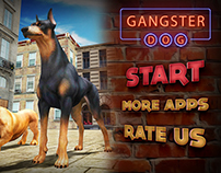 Gangster Dog Sim Game UI