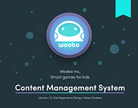 Woobo Content Management Site Design