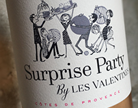 "Wine Label ""Surprise Party"" by Les Valentines"