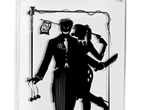 Joker and Harley - hand cut paper