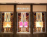 LVMH . Bvlagri Fall 2019 Window setup China store