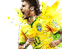 World Cup Brazil 2014 illustration
