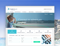 Exeter Airport Responsive Website Re-design - UI/UX