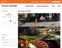 RIT Events Page Redesign