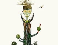 Metamorphoses: Cactaceae Poaceae (collage)