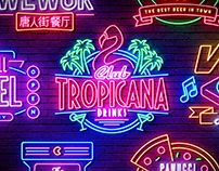 Neon Sign Effects for Photoshop
