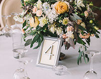 Elegant decor for Golden wedding. Botanica decor.